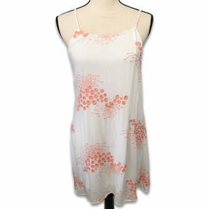 Black Bead white peach embroidery lined dress